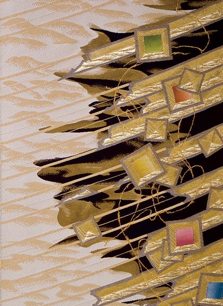 袋帯 武一郎硝子絵織