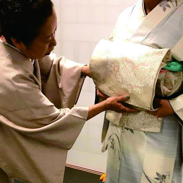 OKANOスタッフによる 袋帯 後結び二重太鼓講座
